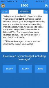 Bitcoin trading app -case studie vraag
