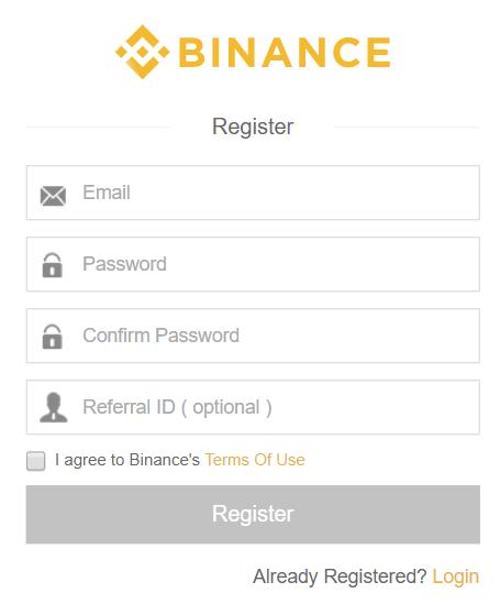 Handleiding Binance - registreren