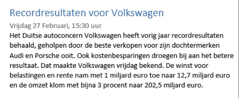 Speculeren aandelen Volkswagen